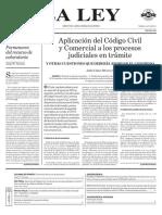 Aplicación Del CCyCN a Los Procesos Judiciales en Trámite