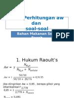 Perhitungan Aw Dan Soal (E-learning 11-6-2014)