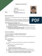 Diego Perez ( Curriculum Vitae-1