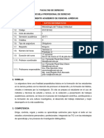 Sílabo de MTI - Derecho - 2017 I