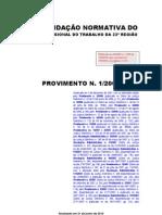 Provimento_001 _2006_V2010.07.05