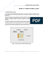M5 La Matriz Del Marco Lógico