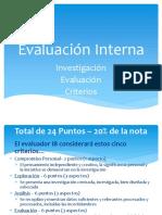 Criterios de Evaluación BI - Física