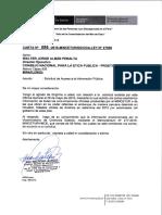 Carta del MINCETUR enviada al representante comercial de EE.UU, Michael Froman - Caso Tala Ilegal - Houston