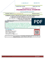 15.FORMULATION AND EVALUATION OF FAST DISSOLVING TABLETS OF METOPROLOL SUCCINATE Mr.A.Anka Rao*, B. Ramya, M.V.L.Bhavani, P.Ramesh, A.Praveen Kumar V.Vasu Naik, Dr. A.Seetha Devi