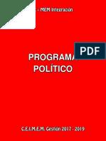 Xmem -Programa Político y Propuestas
