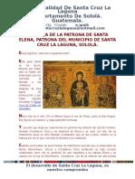 Historia de La Patrona de Santa Elena, Patrona Del Municipio de Santa Cruz La Laguna, Sololá.