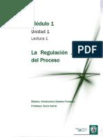DERECHO PROCESAL 1 Lectura 1 - La Regulación Jurídica Del Proceso