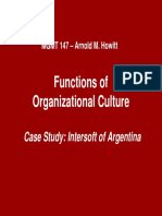 Functions of Organizational Culture--rev 10-08
