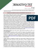 Informativo TST Execução Nº 022