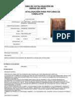Ficha de Catalogación de obras de Arte SIICOA - Cusco