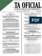 Gaceta Oficial 40.775 Estructura de Costos