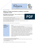 Influence of family environment on children's oral health