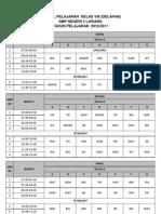 jadwal pelajaran 1011 kelas 8