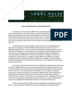 Legal Pulse Year-In-Review 2016 Newsletters