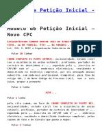 Modelo de Petição Inicial - Novo CPC