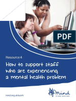 mind booklet on supporting staff with mh problems