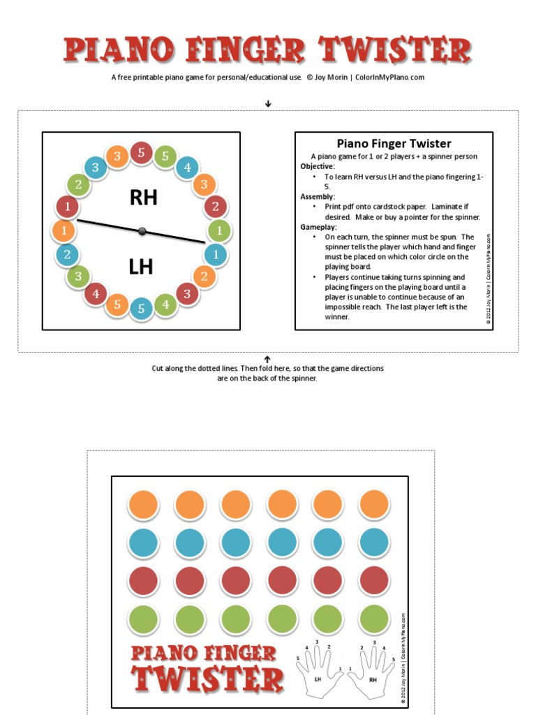 picture about Finger Twister Printable identify Recreation_Finger_Piano_Twister.pdf Amusement Foodstuff Wine