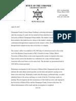 Male Fire Victim 4/19/17 - Press Release