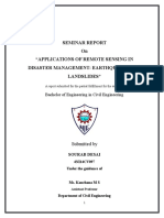 APPLICATIONS OF REMOTE SENSING IN DISASTER MANAGEMENT EARTHQUAKES AND LANDSLIDES REPORT.docx