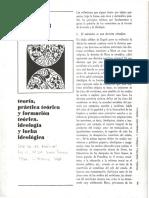 Louis Althusser - 1966 Teoría, Practica Teórica y Formación Teórica. Ideología y Lucha Ideológica
