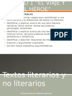 Textos literarios y no literarios 3° medio