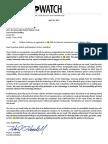 Texas Watch Written Testimony Against SB 2205
