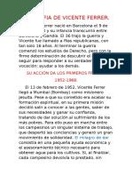 Biografia de Vicente Ferrer