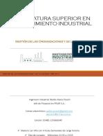 Tecnicatura Superior en Mantenimiento Industrial Gestión 1ra Clase - Introducción