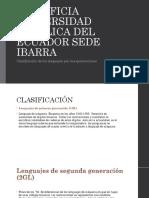 Clasificación de Los Lenguajes Por Sus Generaciones