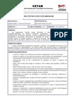 Plano de Curso - Organização e Técnica Comercial