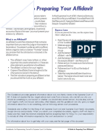 A Guide to Preparing Your Affidavit