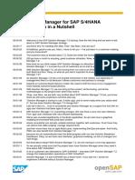 OpenSAP Solman1 Transcript