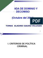 PERDIDA de DOMINIO y Decomiso (Octubre 2014)