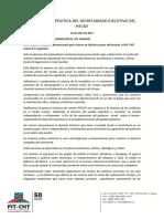 Declaracion Secretariado Ejecutivo del Pit-CNT