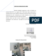 Carta de Seguridad de Obra Regularizacion