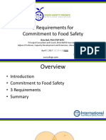 3 Requirements for Commitment to Food Safety