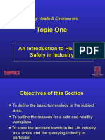 Topic 1 - Introduction to h&s in Industry
