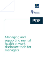 managing and supporting mh at work