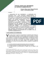 Aplicación Del Código Civil Reformado en El Contrato Administrativo - Wilson Villarroel