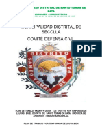 Plan de Trabajo Plataforma de Defensa Civil