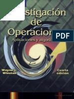 Investigacion de Operaciones Aplicaciones y Algoritmos Wayne L. Winston 4ta ED