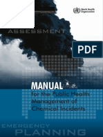Manua Public Health Management Chemical Incidents