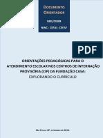 Documento Orientador - CIP_Novas Orientações Fundação Casa