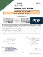 Certificate v1 TetraFlexRel7.40DamI MU1000MDUniT 0009