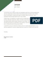 cover letter - school board