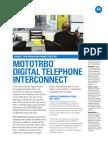 Mototrbo Digital Telephone Interconnect Fact Sheet