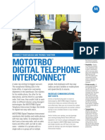 Mototrbo Digital Telephone Interconnect Fact Sheet