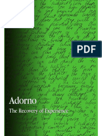 Adorno - The Recovery of Experience - Foster (2007).pdf