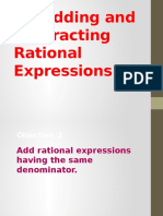 6.4 Adding Rational Expressions